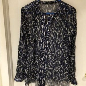 Elie Tahari for Nordstrom Silk Blouse Tunic Top